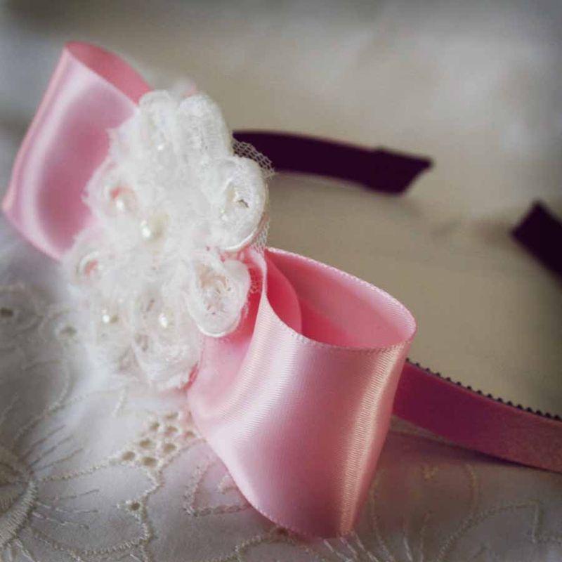 Pink lace headband1.1